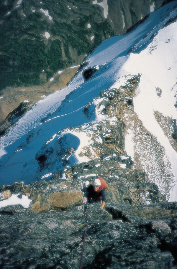 Alison on Edith Cavell, Rockies