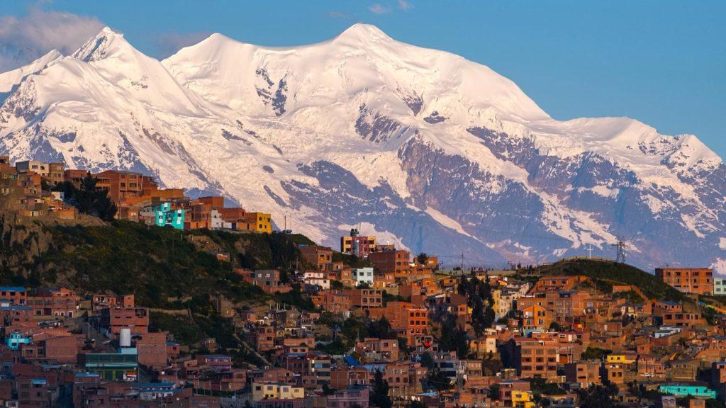 Bolivian Mountains: Illimani above La Paz