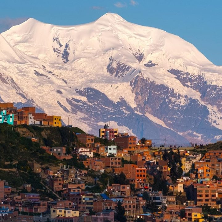 Illiani above La Paz Bolivia