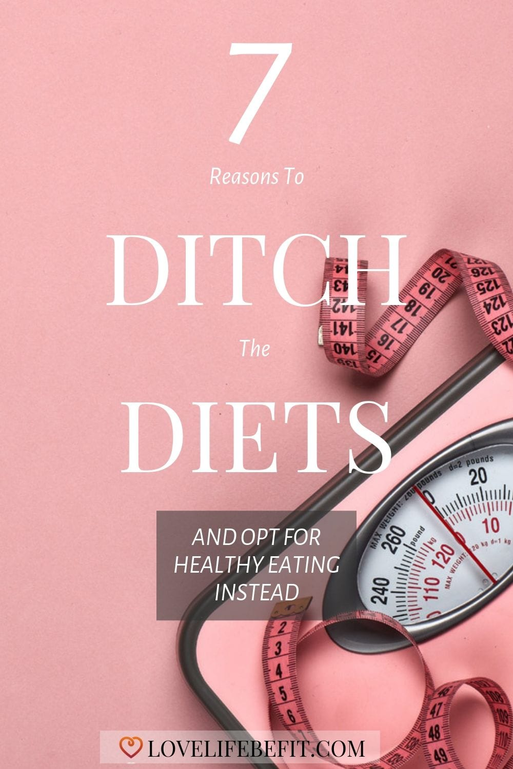 Hands up who started a diet in January and lapsed by February? Did you lose any weight or did you end up with your weight even higher than when you started? Read on for reasons to ditch the diet...#healthyeating