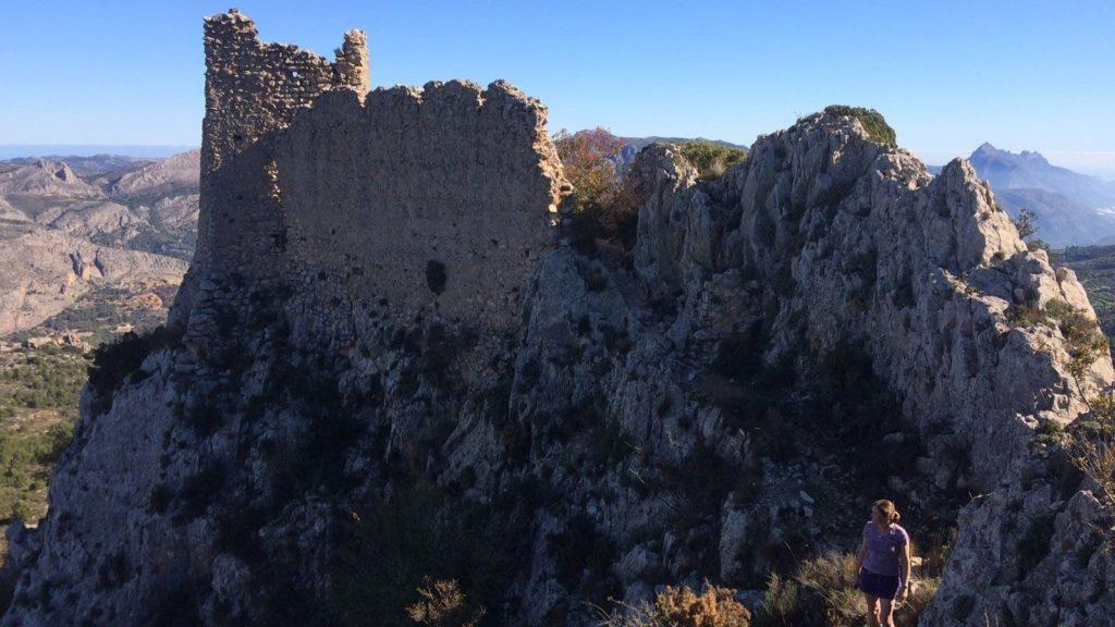 hiking coata blanca