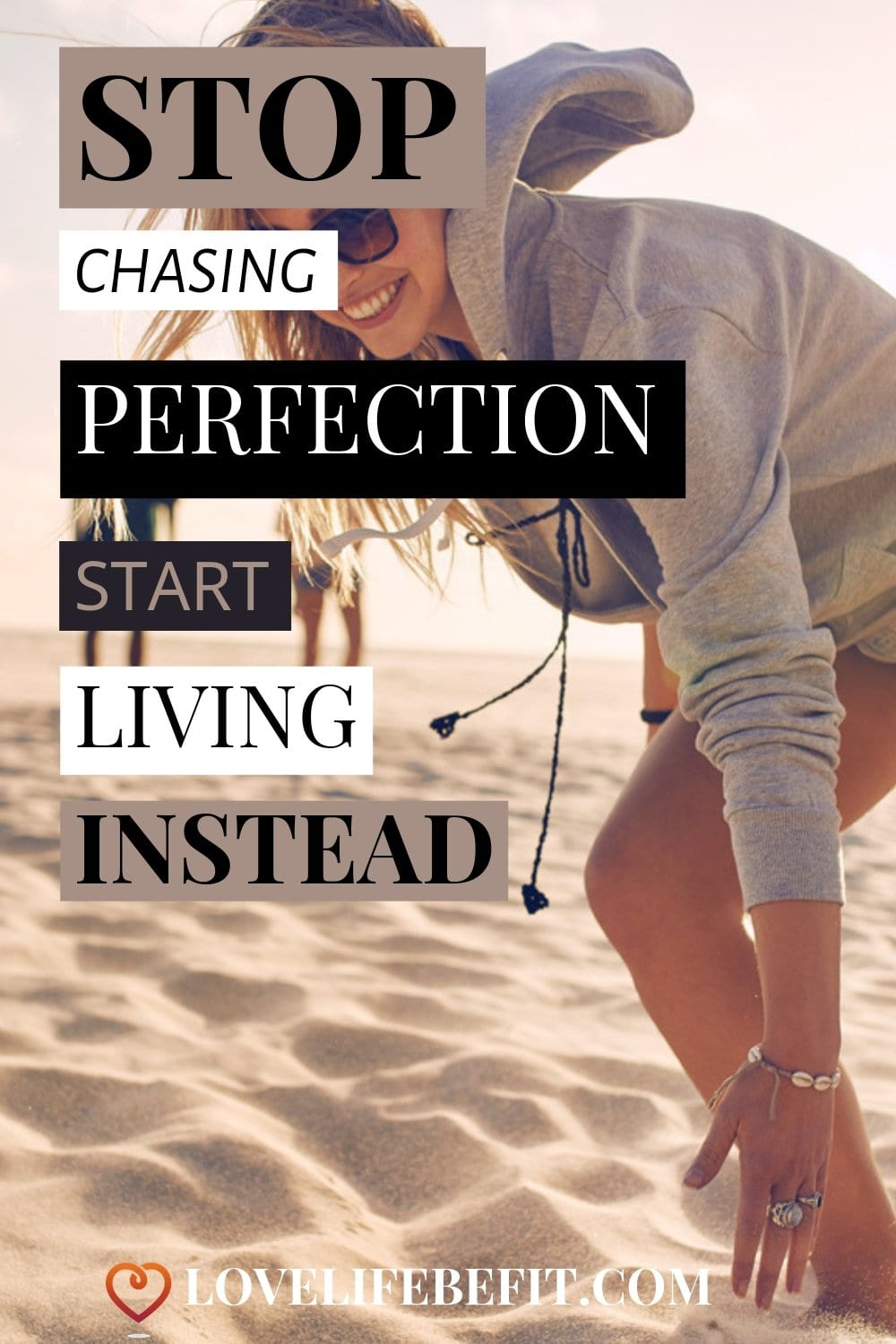Putting off living until you having the perfect body is a way of missing out on life big time. Stop chasing perfection and start living now! #fitness #lifestyle