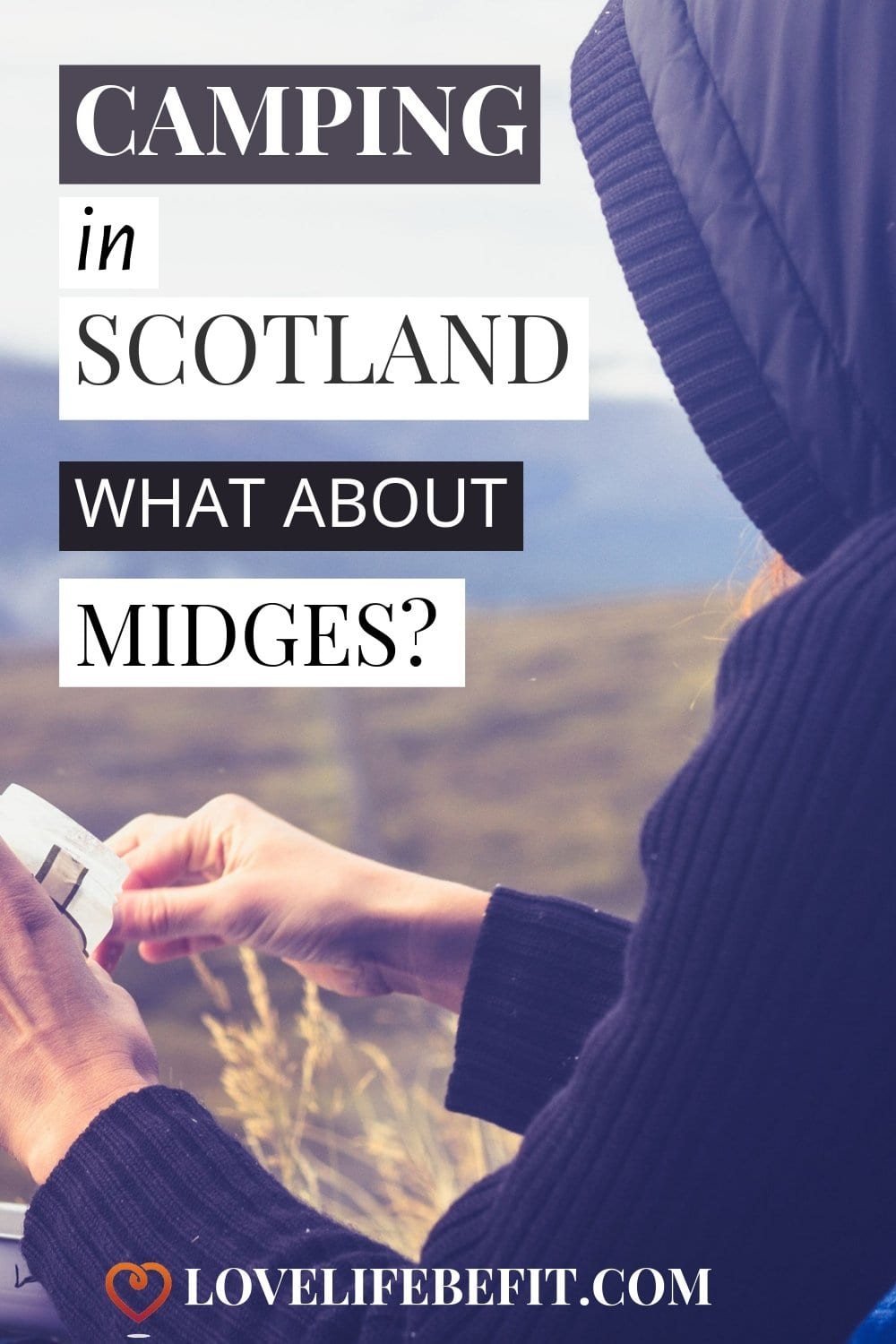 I have a rule about no camping in Scotland in midge season but sometimes rules have to be broken. Here are my tips to survive camping with midges! #midges #midgesinscotland