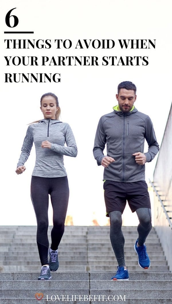 When your partner starts running be warned: you need the skills of a diplomat. There\'s a fine line between encouragement and sounding condescending... #running #runningtips #runningforbeginners