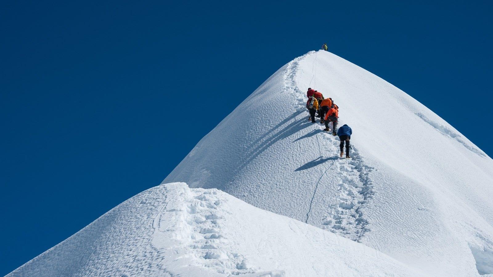 must climb mountain