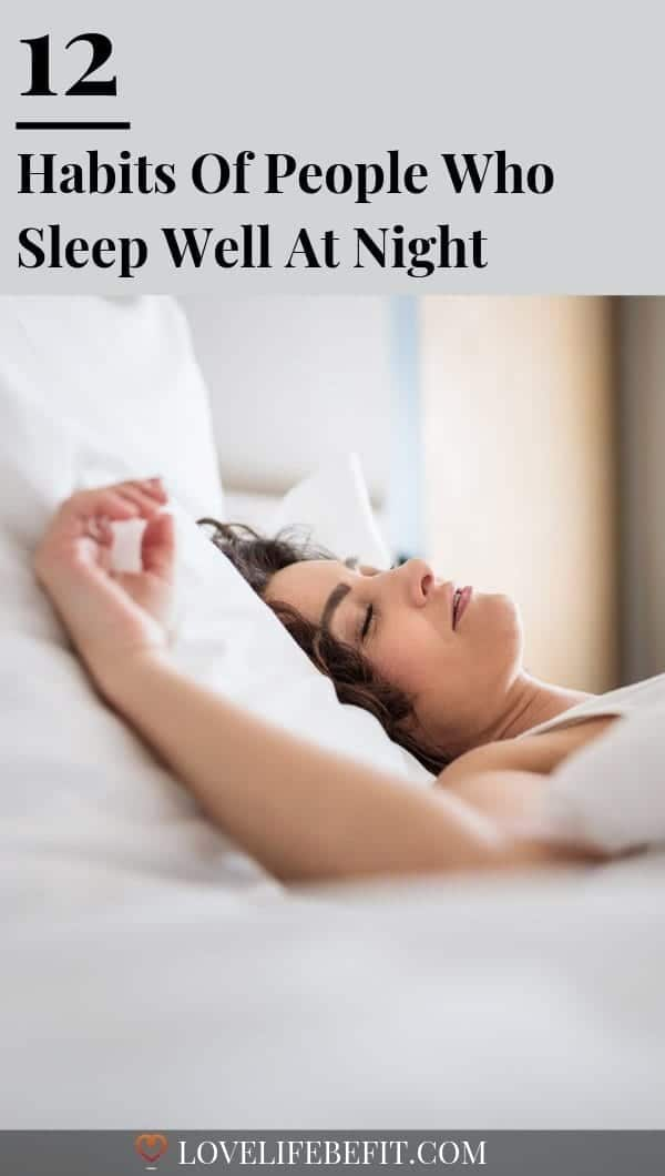 Some people sleep soundly while others are restless sleepers struggling to switch off when they hit the pillow. If you\'ve ruled out medical reasons for poor sleep, try adopting these habits of people who sleep well at night...#sleepingwell #sleeping #healthylifestyle