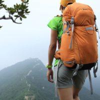 hiking great wall of china