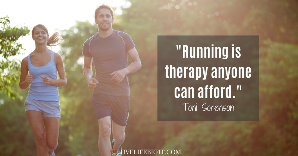 motivational running quotes - running is therapy