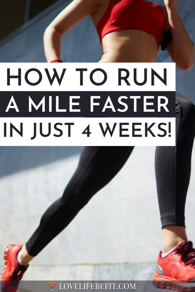 how to run a mile faster