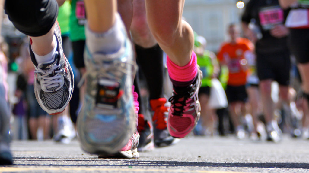 when was running invented