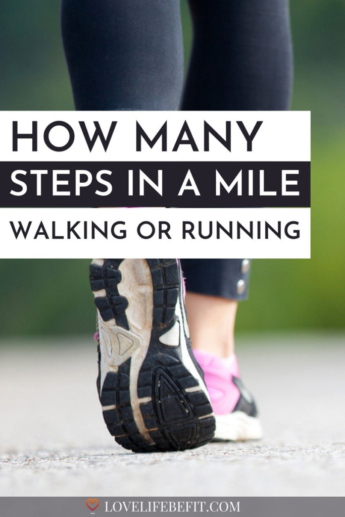 steps in a mile walking or running