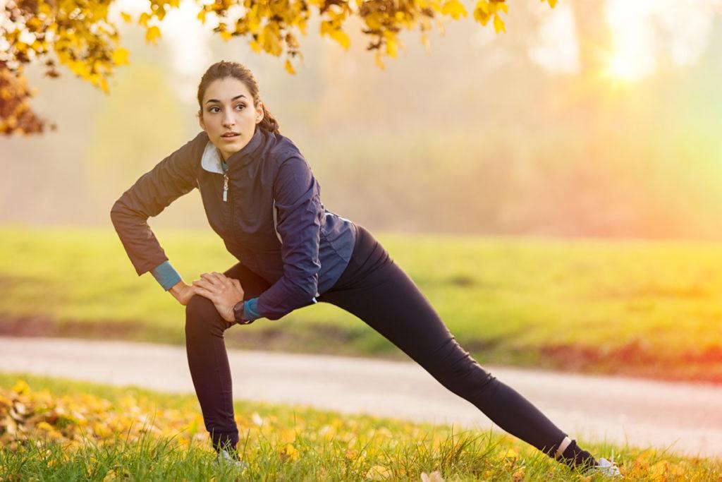 warm up properly to avoid heavy legs running